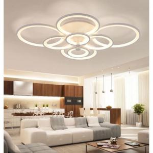 Lustra LED Circle Design 8 Cercuri cu telecomanda [4]
